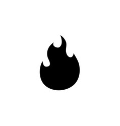 fire flames flat icon vector image