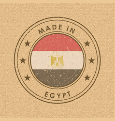 flag egypt round label with country name for vector image