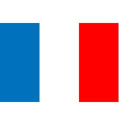 flag france in flat design flag france background vector image