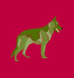 Flat shading style icon german shepherd vector