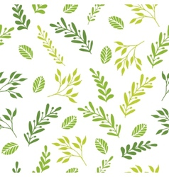 Floral seamless pattern with branches vector image