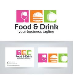 Food drink logo design vector