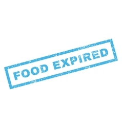 Food Expiblue Rubber Stamp vector image