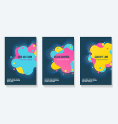 futuristic shapes booklet design vector image
