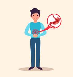 Gastritis patient flat character vector