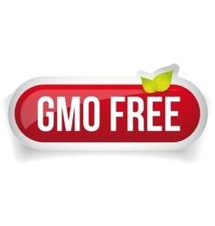GMO free icon button vector