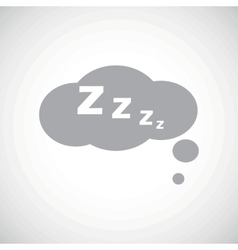 Grey sleeping icon vector image