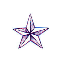 hand drawn star shape vector image
