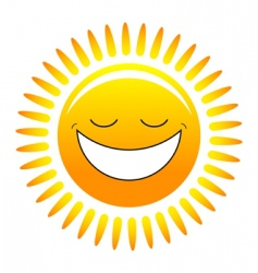 happy sun vector image