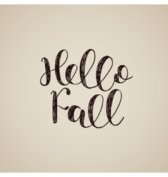 Hello Fall Brush lettering vector image