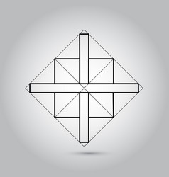 impossible geometry symbols on grey vector image