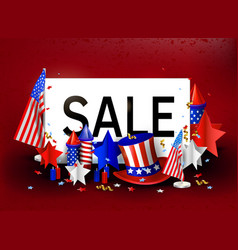 Independence day usa 4th july sale vector