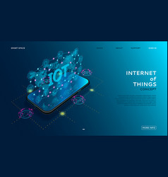 internet things technology concept vector image