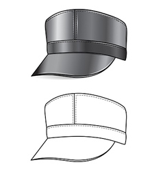 Leather cap vector
