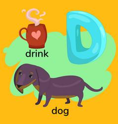 Letter d children s alphabet vector