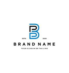 Letter pb logo design vector