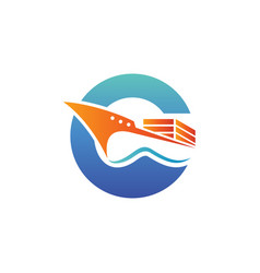 logo for cargo ship perfect for logistic or vector image