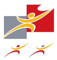 man strives for a goal logo template vector image