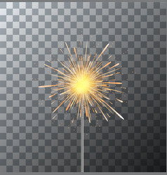 Modern sparkler on transparent background vector