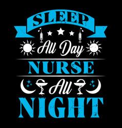 nurse typographic quotes vector image