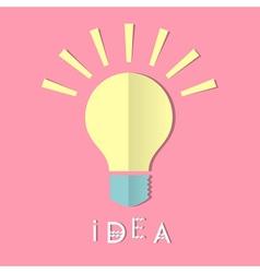 paper bulb vector image