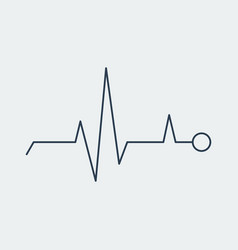 pulse icon heartbeat sign vector image