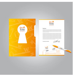 real estate brand book vector image