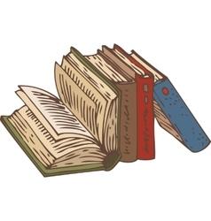 Row books vector