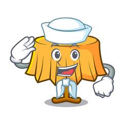 Sailor table cloth character cartoon vector