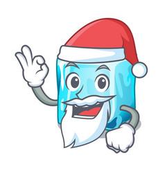 Santa ice cubes on the cartoon funny vector
