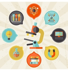 Science concept info graphic in flat design style vector image vector image