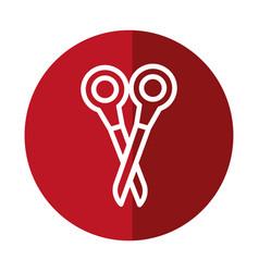 Scissor tool icon vector
