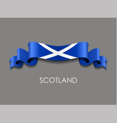Scottish flag wavy ribbon background vector