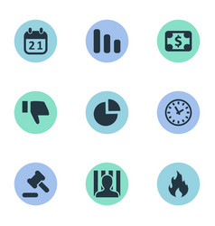 set of simple trouble icons vector image