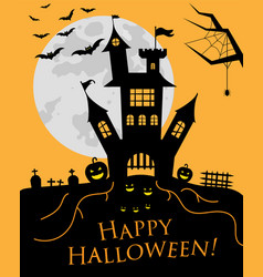 suggestive hallowen party flyer for entertainment vector image