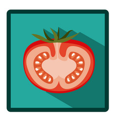 Symbol tomato split in half icon vector