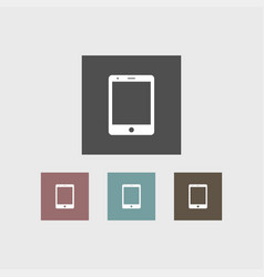 tablet icon simple vector image