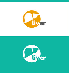 Template logo for liver hepatology clinic vector