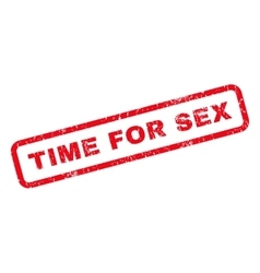 Time For Sex Rubber Stamp vector