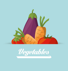 vegetables food healthy image poster vector image