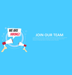 we are hiring banner join our team vector image