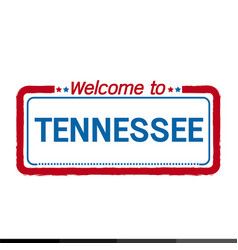 Welcome to tennessee of us state design vector