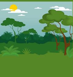 Wildlife background design vector