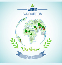 world environment day with shape paintings vector image