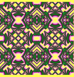 Yellow and green seamless pattern vector