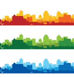 cityscapes short vector image vector image