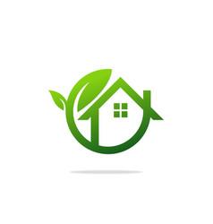 Eco house garden logo vector