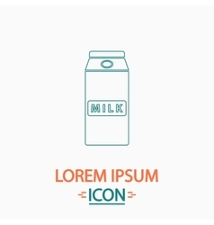 Milk box computer symbol vector image vector image