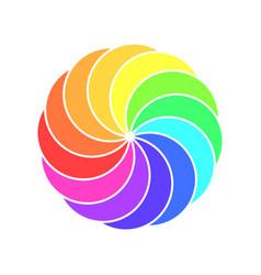 rainbow spectrum color wheel children wind vane vector image