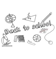 Set of doodle education elements vector